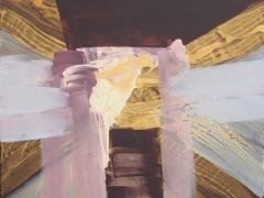 """Rita Rimšienė paveikslas iš ciklo """"Minčių skaitiniai VI"""", drobė, akrilas, 100X120 cm. 2017 m."""