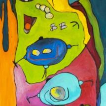 Raminta Ardzevičienė. ''PALA-TINTYTA-SARBA''. Canvas, oil. 2015. Price 450 Eur.