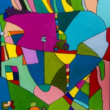Raminta Ardzevičienė. ''Rain''. Canvas, oil. Size 40 X 60 cm. 2015. Price 250 Eur.
