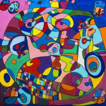 Raminta Ardzevičienė. ''Portrait''. Canvas, oil. Size 50 X 50 cm. 2015. Price 450 Eur.