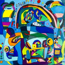 Raminta Ardzevičienė. ''Onka''. Canvas, oil. Size 60 X 60 cm. 2014. Price 550 Eur.