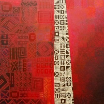 Dalia Kirkutienė. ''The Door''. Canvas, acrylic. Size 116 X 89 cm. Price 750 Eur.