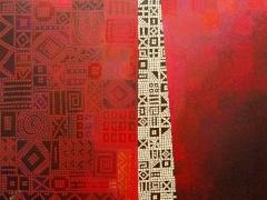 """Dalia Kirkutienė """"Durys"""" drobė, akrilas matmenys 116 X 89 cm. Kaina 750 Eur"""