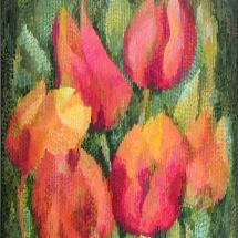 Dalia Dalia Kirkutienė. ''Six''. Size 100 X 120 cm. Author technique, painting is framed. 2016. Price 1100 Eur.