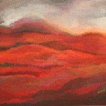 Dalia Kirkutienė. ''Sunset II''. Size 100 X 116 cm. Author technique. Price 850 Eur.