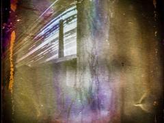 """Žilvinas Kropas. Fotografija iš serijos """"Solargraphy"""" Spauda. Fotografijos formatas 60x60., Ekspozicijos laikas 3mėnesiai. 2016m. Kaina 400€"""