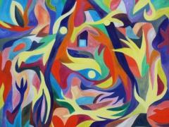 """Tobias Biering  """"Motina""""120X 130 cm. drobė, aliejus, 2016 m. Kaina 1755 Eur."""