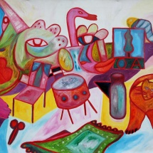 "Tobias Biering. ""OA"". 80 x 100 cm, canvas, oil, 2013. Price – 1080 EUR."