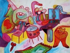 """Tobias Biering """"OA"""" 80X 100 cm. drobė, aliejus, 2013 m. Kaina 1080 Eur."""