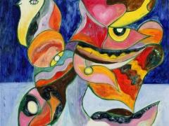 """Tobias Biering  """"Sielos paukštis"""" 100 X 70 cm. drobė, aliejus, 2015 m.  Kaina 945 Eur."""