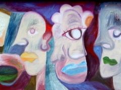 """Tobias Biering """"Spalvų sapnas""""  40X 110 cm.  drobė, aliejus, 2014 m .Kaina 675 Eur."""
