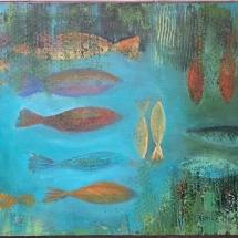 """Jurgita Pakerytė-Ziabliceva """"Aquarium"""", 60 x 90 cm, 2017. Price – 160 EUR."""