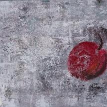 """Jurgita Pakerytė-Ziabliceva """"Apple"""", 40 x 60 cm, 2016. Price – 170 EUR."""
