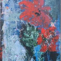 """Jurgita Pakerytė-Ziabliceva """"Pelargonium"""", 40 x 60 cm, 2016. Price – 170 EUR."""