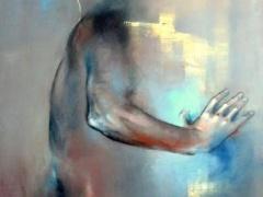 """Aistė Jurgilaitė """"Atspindžiai"""" 120X180 cm. drobė, akrilas"""