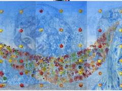"""Arturas Aliukas """"Nebaigta kompozicija nr. 17"""", drobė, aliejus 240X 405, 2008-2010 m."""