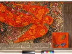 "Arturas Aliukas ""Natiurmortas su obelų žiedais"" 2008 m. 144X129 cm."