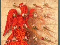 """Arturas Aliukas """"Angelas aitvaras""""90X 145 cm. 2008 m."""