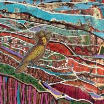 Deivis Slavinskas. ''Thief of the dreams''. Acrylic on the canvas. Size 75 X 60 cm. 2011.