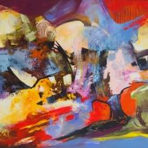 Rita Rimšienė. ''Emotions''. Canvas, acrylic. Size 100 X 120 cm. 2011. Price 900 Eur.
