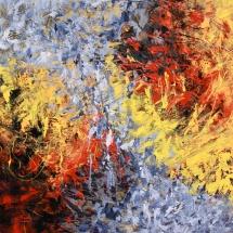 Rita Rimšienė. ''Unknown city of the planet''. Canvas, acrylic. Size 100 X 150 cm. 2011. Price 900 Eur.