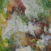 Rita Rimšienė. ''The Mask''. Canvas, acrylic. Size 110 X 140 cm. 2016. Price 900 Eur.
