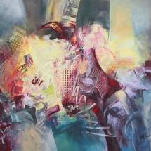 Rita Rimšienė. ''Trail of the swan''. Canvas, acrylic. Size 100 X 120 cm. 2015. Price 900 Eur.