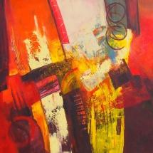 Rita Rimšienė. ''Explosion''. Canvas, acrylic. Size 80 X 120 cm. 2015. Price 700 Eur.