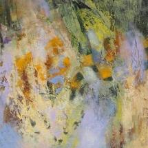 Rita Rimšienė. ''Flight of the bird''. Canvas, mixed technique. 2013. Price 850 Eur.