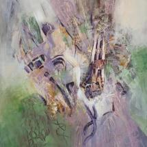 Rita Rimšienė. ''Mirage''. Canvas, oil. Size 150 X 120 cm. 2016. Price 900 Eur.