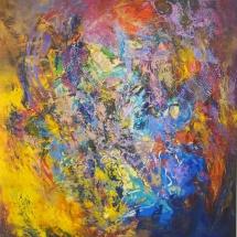 Rita Rimšienė. ''The yellow island''. Canvas, acrylic. Size 80 X 140 cm. 2016. Price 750 Eur.