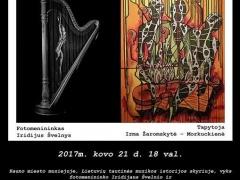 Iridijaus Švelnio ir Irmos Žaromskytės Morkuckienės parodos plakatas
