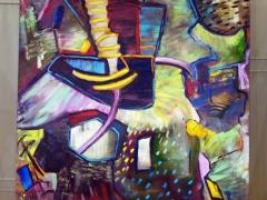 """Fragmentai iš Edmundo Kartano parodos """"Aš išeisiu parūkyti"""" Kauno kultūros centras """"Tautos namai"""" fotografavo Deivis Slavinskas"""