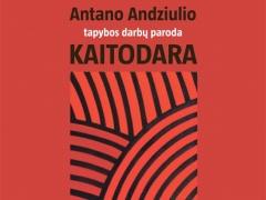 Antano Andziulio parodos plakatas sukūrė dizainerė Algė Varnaitė