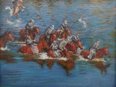 """Pranas Griušys """"Durbės mūšis"""" 42X54 cm. aliejus, drobė, 2008 m."""