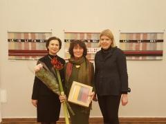 Rotušės projektų vadovė Patricija Poderytė, Marijona Sinkevičienė ir Gabrielė Kuizinaitė. Fotografavo Vytenis Sinkevičius.