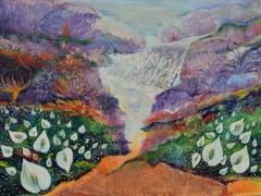 """Zita Virginija Tarasevičienė diptikas """"Tiltas"""" paveikslo matmenys 120X100 cm. Paveikslo kaina 800 Eur."""