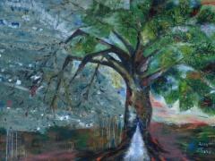 """Zita Virginija Tarasevičienė """"Toks tamsus abstraktas"""" paveikslo matmenys 120X100 cm. Paveikslo kaina 400 Eur"""