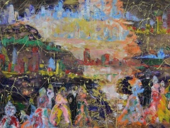 """Zita Virginija Tarasevičienė """"Kalijų slėnis"""" paveikslo matmenys 2X180 cm. Paveikslo kaina 800 Eur."""