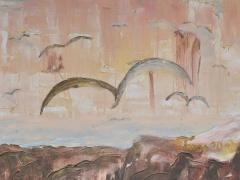 """Zita Virginija Tarasevičienė """"Atgimimas"""" paveikslo matmenys 120X 80 cm. Paveikslo kaina 400 Eur."""