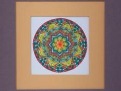 """Eglė Kalibataitė paveikslas iš ciklo """"Mandala"""", paveikslo matmenys 18X18 cm. Paveikslo kaina 68 Eur."""