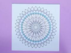 """Eglė Kalibataitė paveikslas iš ciklo """"Mandala"""", paveikslo matmenys 40X 40 cm. Paveikslo kaina 80 Eur."""