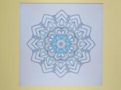 """Eglė Kalibataitė paveikslas iš ciklo """"Mandala"""", paveikslo matmenys 20X20 cm. Paveikslo kaina 60 Eur."""