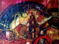 "Erika Petunovienė (AYTĖ) ""Old town at night"" paveikslo matmenys 60X 80 cm. Kaina 337,50 Eur."