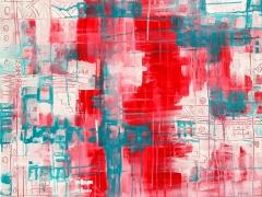 """Margarita Adomavičienė """"Įšaldyta aistra"""" paveikslo matmenys 60X60 cm. Paveikslo kaina 220 Eur"""