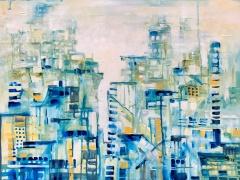 """Margarita Adomavičienė """"Ledo miestas"""" paveikslo matmenys 50X70 cm. Paveikslo kaina 189 Eur."""