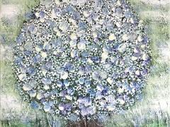 """Viktorija Jasinskaitė-Bobina """"Iš žydrojo rojaus"""" paveikslo matmenys 40X40 cm. Paveikslo kaina 160 Eur. Parduotas."""