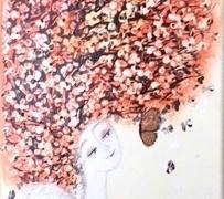 """Viktorija Jasinskaitė-Bobina '' Rudens angelas"""" paveikslo matmenys 20X 60 cm. Paveikslo kaina 140 Eur."""