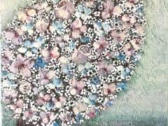 """Viktorija Jasinskaitė Bobina """"Švelnumo medis"""" paveikslo matmenys 40X40 cm. Paveikslo kaina 160 Eur."""
