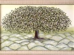 """Viktorija Jasinskaitė-Bobina """"Karališkasis žaliasis"""" Paveikslo matmenys 60X 90 cm. Paveikslo kaina 360 Eur."""